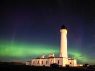 The Northern Lights, seen here lighting up the sky over Lossiemouth, Moray