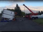 Strongbow lorry sheds load