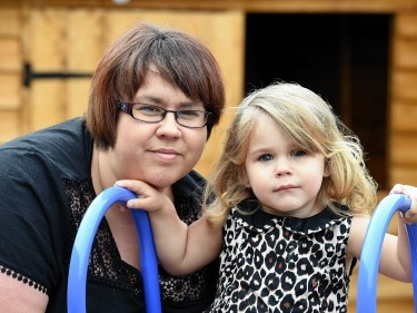 Leanne Christie from Buckie with her daughter Zahra. Picture by Kevin Emslie