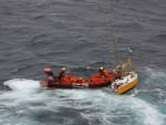 The sailor was rescued from his yacht after spending hours adrift