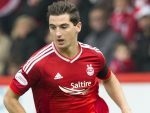 Kenny McLean gave Aberdeen a fourth-minute lead with a well-taken volley