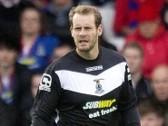 Caley Thistle goalkeeper Owain Fon Williams made several great saves to keep his side in the game