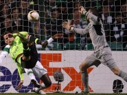 Ajax's Arkadiusz Milik scores his sides first goal during the UEFA Europa League match at Celtic Park