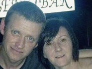Gareth Crowe, 36, with his partner Catherine Hughes