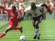 Sol Campbell, right, played 73 times for England