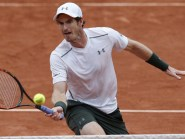 Andy Murray, pictured, defeated John Isner in straight sets to reach the quarter-finals of the French Open (AP)