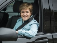 First Minister Nicola Sturgeon is visiting Aberdeen today