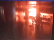 The explosion at the airport