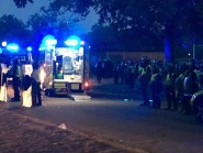 A night of disorder saw a large crowd become violent after gathering for a water fight in Hyde Park (@issavoice/PA)