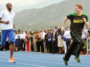 Harry sent Usain Bolt a birthday message via Twitter and asked if it was time for a re-run