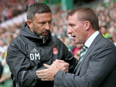 Brendan Rodgers, right, praised his tireless Celtic side