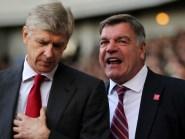Arsene Wenger, left, hopes Sam Allardyce can clear his name