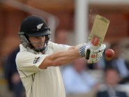 New Zealand captain Kane Williamson, pictured, figured in a century stand