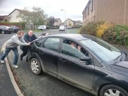 Alex Salmond helping out a by-election candidate in Inverurie