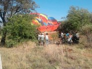 The scene of the crash in South Africa