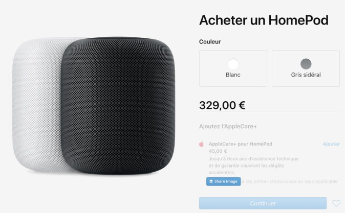 Apple HomePod prix