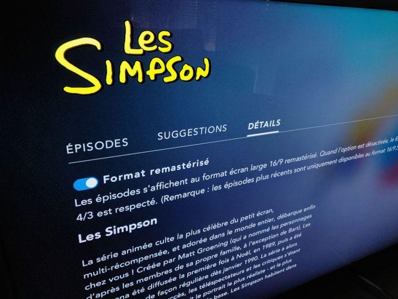 Les Simpsons en 4:3 sur Disney+