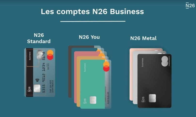 N26 Business cartes