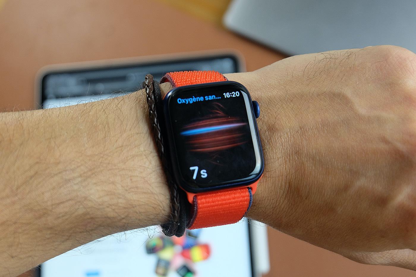 test apple watch series 6 oxygene