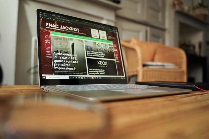 test microsoft surface laptop go ecran