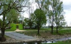 """Frischer Wildnis-Akzent Auf der Landesgartenschau: Das """"Tor zur Wildnis"""" des Nationalparks Bayerischer Wald im Bereich Donaupark an der Bogenbachmündung"""