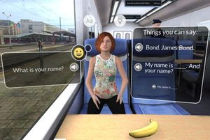 """""""Mondly VR"""" lässt Nutzer virtuell Sprachen lernen Anwendung für Gear VR versucht, echte Gespräche zu ermöglichen"""