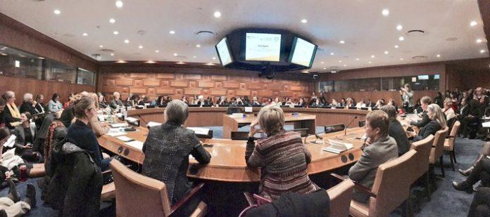 W20 nutzte die internationale Bühne während der 61. Sitzung der UN-Frauenrechtskommission in New York (CSW61), um sich vorzustellen. Auf einer gemeinsamen Veranstaltung mit dem Bundesfrauenministerium (BMFSFJ) warb gestern das deutsche W20-Team vor über 120 Vertreterinnen von Regierungen und Nichtregierungsorganisationen dafür, die W20 innerhalb der G20 als starke und dauerhafte Dialoggruppe zu verankern.