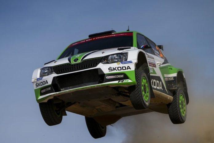 Rallye Italien Sardinien: Kopecky/Dresler feiern für SKODA ihren ersten WRC 2-Sieg der Saison
