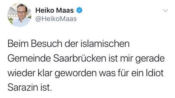 Nachrichten, Politik, Deutschland, Justizpolitik und Gesetze, Heiko Maas, Justizministerium, Thilo Sarrazin, Netzwerkdurchsetzungsgesetz