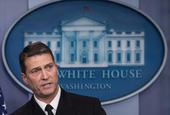 Präsident, Donald Trump,Ronny L. Jackson,David Shulkin ,Veteranenminister , Weißen Haus