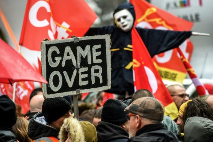 Frankreich,Eisenbahn,Streik,News,Politik,Kampf der Schiene,#SNCF,Präsident, Emanuel Macron,