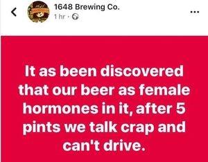 East Hoathly ,Twitter,Bier,Essen/Trinken,Werbung,Bier ist voll von weiblichen Hormonen