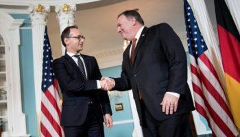 USA,Europa,Nachrichten,Politik,Heiko Maas ,Maas trifft US-Kollegen Pompeo,Atomabkommen,Präsident, Donald Trump, John Bolton