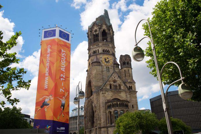 Gedächtniskirche ,Glockenturm,Berlin, Leichtathletik-EM ,Sport,News, Wahrzeichen Berlin
