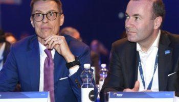 Alexander Stubb ,Manfred Weber ,Helsinki,Ausland,Außenpolitik,Europawahl 2019,News,Nachrichten,Presse,Aktuelles