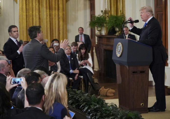 Weißes Haus,Ausland,Außenpolitik,CNN-Reporter,Präsident ,Donald Trump,Pressekonferenz