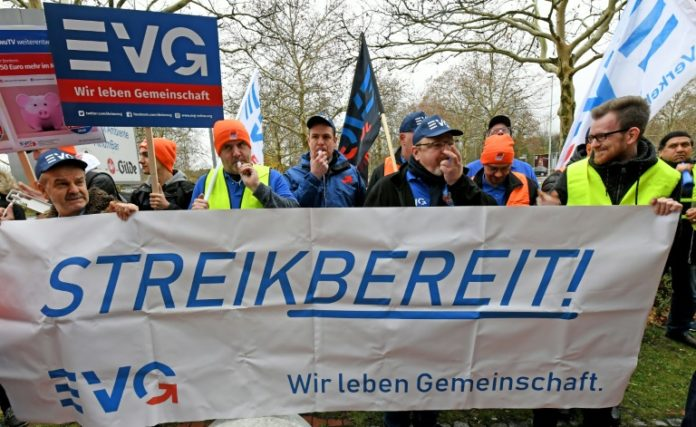 Eisenbahn,Bahn,Streik,Deutsche Bahn,EVG,Nachrichten,News,Presse,Aktuelles
