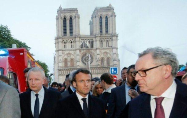 Emmanuel Macron,Paris,Notre-Dame