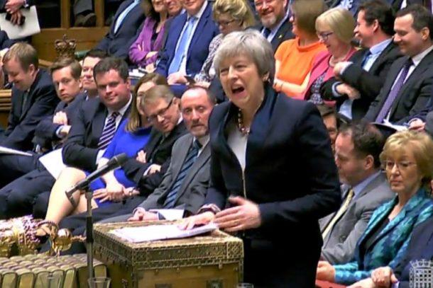 Theresa May,Außenpolitik,Brexit-Verschiebung