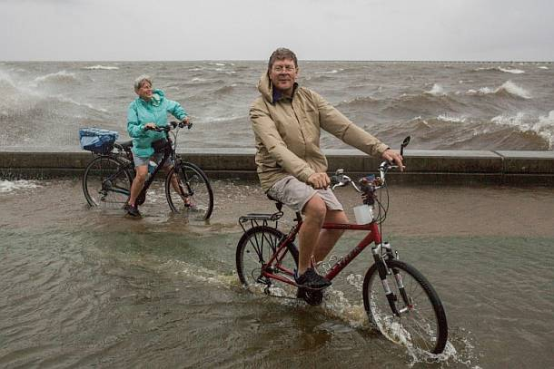 Menschen in New Orleans atmen nach Tropensturm Barry auf