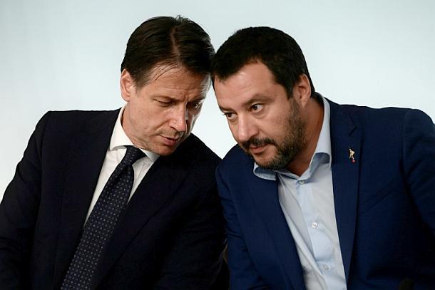 Giuseppe Conte,Matteo Salvini ,Italien,Presse,News,Medien,Aktuelle,Nachrichten,Politik