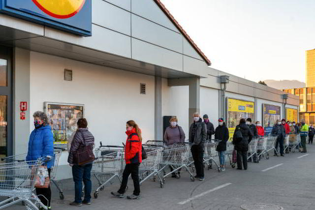 Supermarkt,Lockdown,Aggressivität,Presse,News,