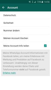 whatsapp Datenaustausch Facebook deaktivieren nicht zustimmen