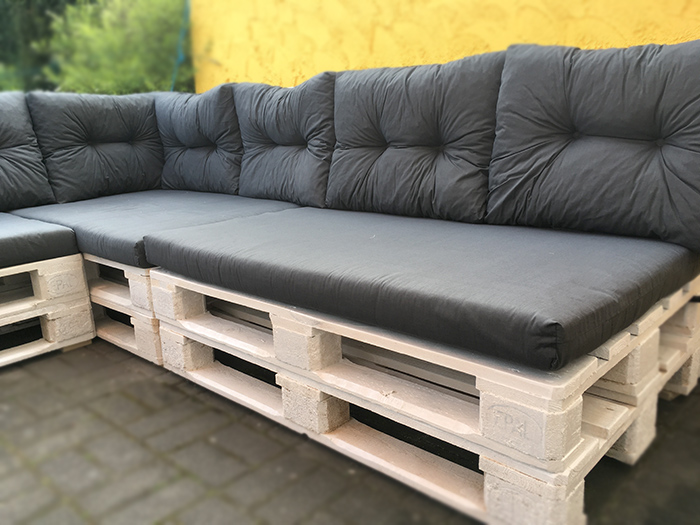 Anleitung Terrassen-Sofa aus EURO Palette selber bauen