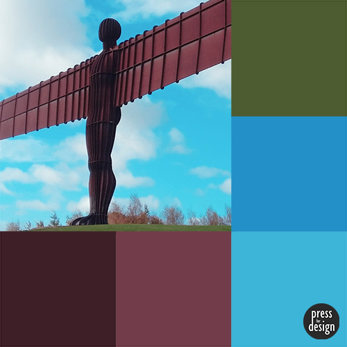 Angel of the North colour inspiration swatch