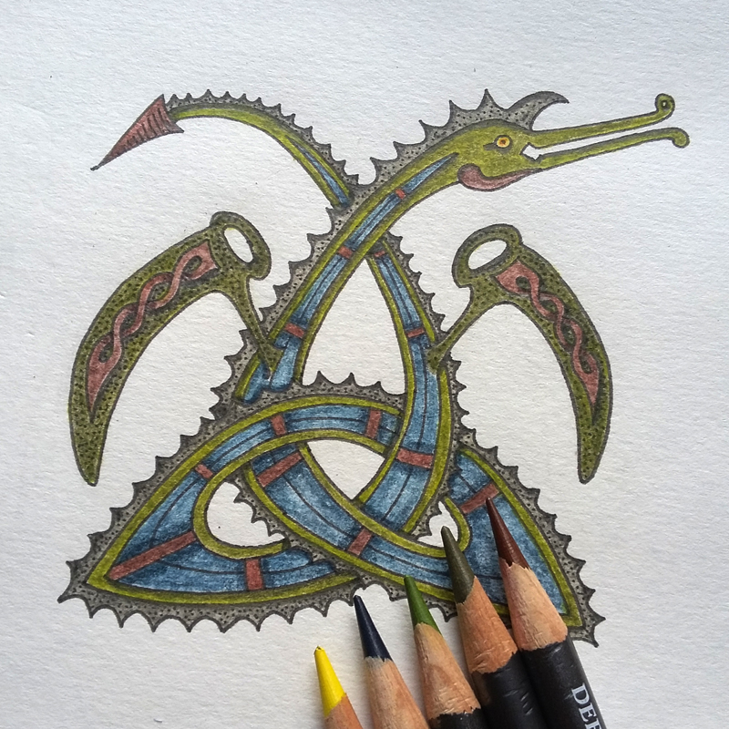 Celtic Knotwork Colouring Book – number two!