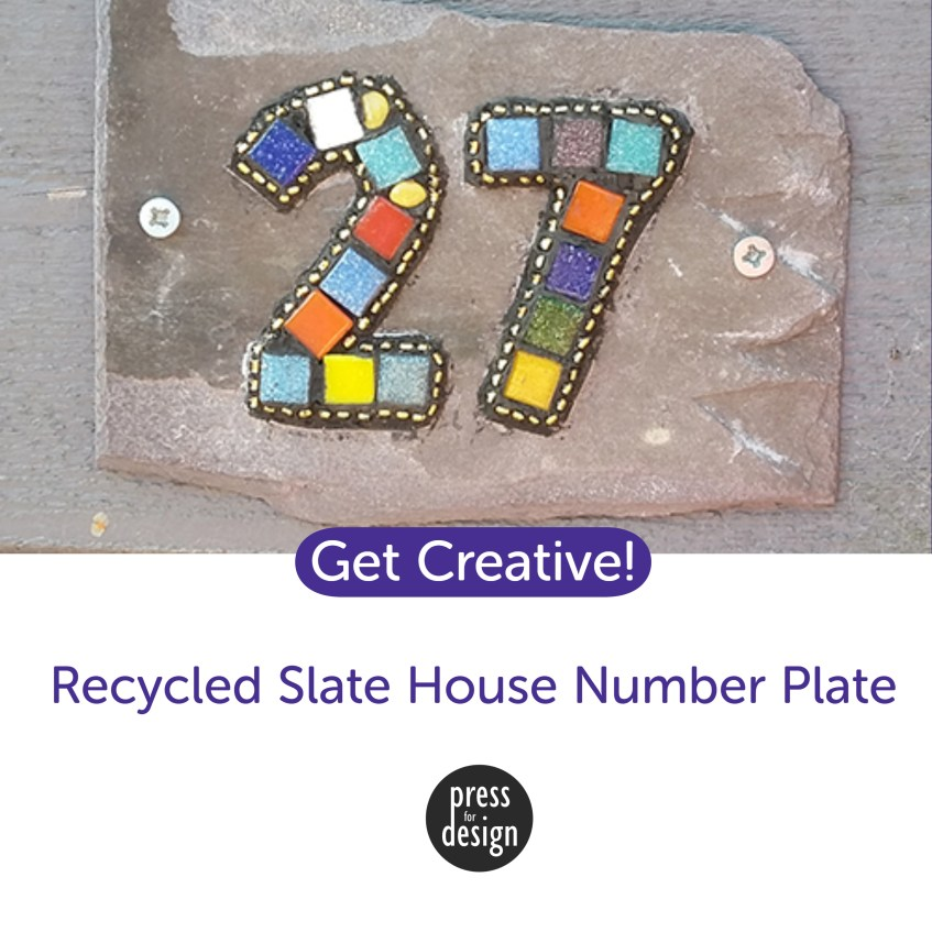 Get Creative: Recycled slate house number plates