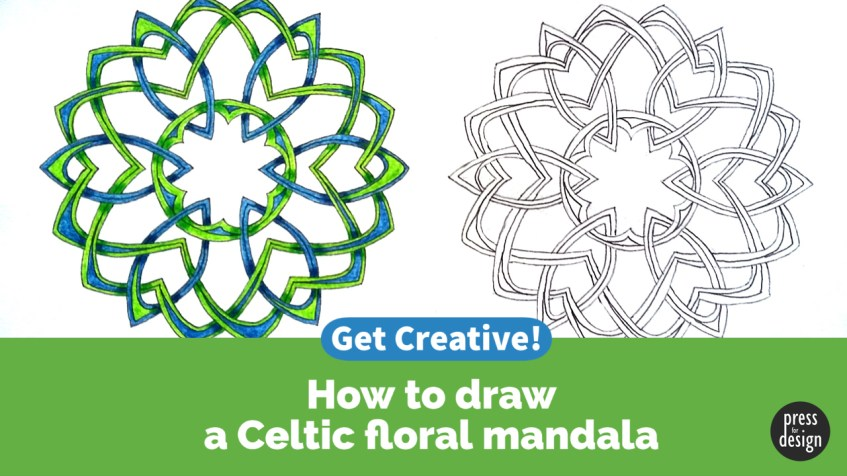 Get Creative: How to draw a Celtic style floral mandala