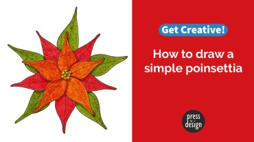 Get Creative: How to draw a simple poinsettia