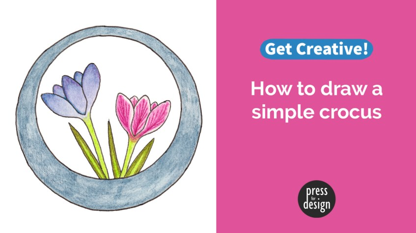 Get Creative: How to draw a simple crocus